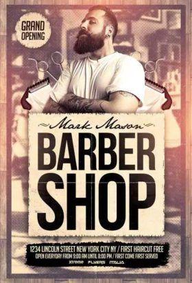 Barber Shop Free PSD Flyer Template