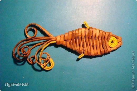 Мастер-класс Поделка изделие Плетение Рыба птица зверь Бумага газетная фото 2