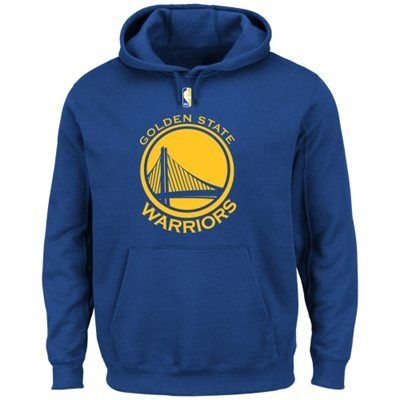 Golden State Warriors Primary Logo Pullover Hoodie Sweatshirt - Royal Blue WANT