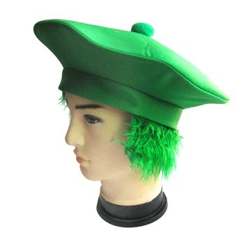 Let's Party With Balloons - St Patricks Beret With Green Hair, $8.00 (http://www.letspartywithballoons.com.au/st-patricks-beret-with-green-hair/)