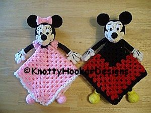 Knotty Hooker Designs: Mickey & Minnie Loveys