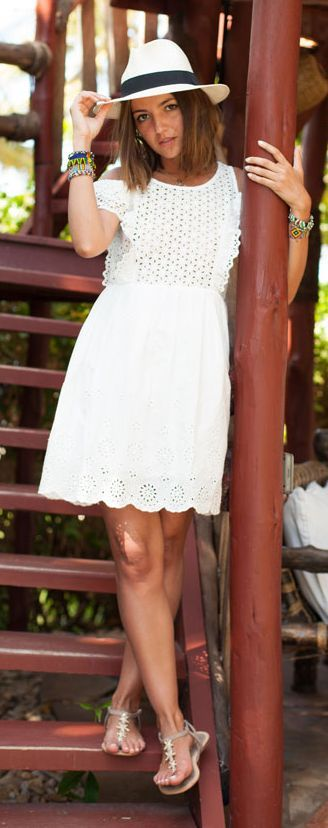 White Lace Dress Summer Style by Lovely Pepa