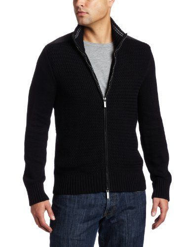 Kenneth Cole Men's Zip front Sweater