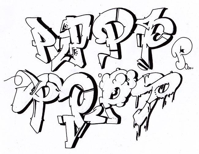 259 best graffiti font...P In Graffiti