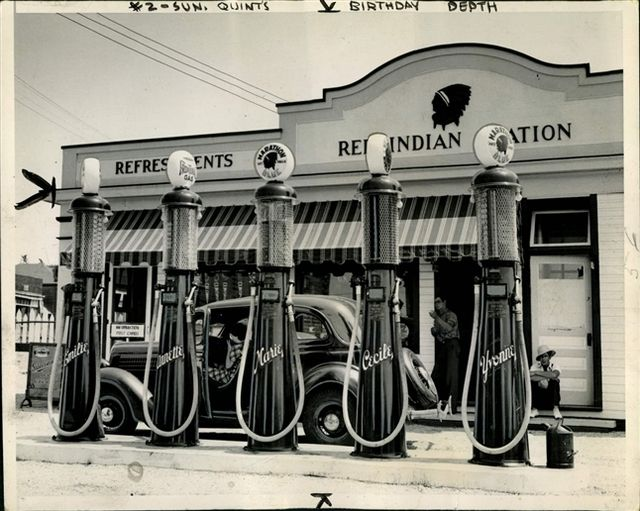 fifties50s: gas stations