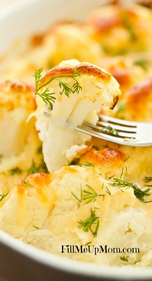 Baked Cauliflower Gratin - This is so yummy and healthy! I use gf ap flour and Ian's gf bread crumbs. ~GF Cheryl~