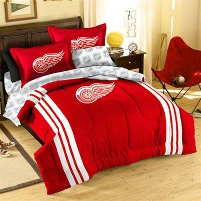 Detroit Red Wings Twin/Full Comforter Set - Red