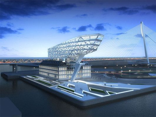 Future headquarters of Antwerp Port Authority, Belgium by Zaha Hadid