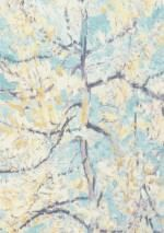 $54.68 Price per roll (per m2 $10.26), Romantic wallpaper, Carrier material: Non-woven wallpaper, Surface: Fine structure, Vinyl, Look: Matt, Design: Tree, Leaves, Blossoms, Basic colour: Pastel turquoise, Pattern colour: Pale yellow, Cream, Pastel violet, Violet blue, Characteristics: Good lightfastness, Highly wash-resistant, Low flammability, Strippable, Paste the wall