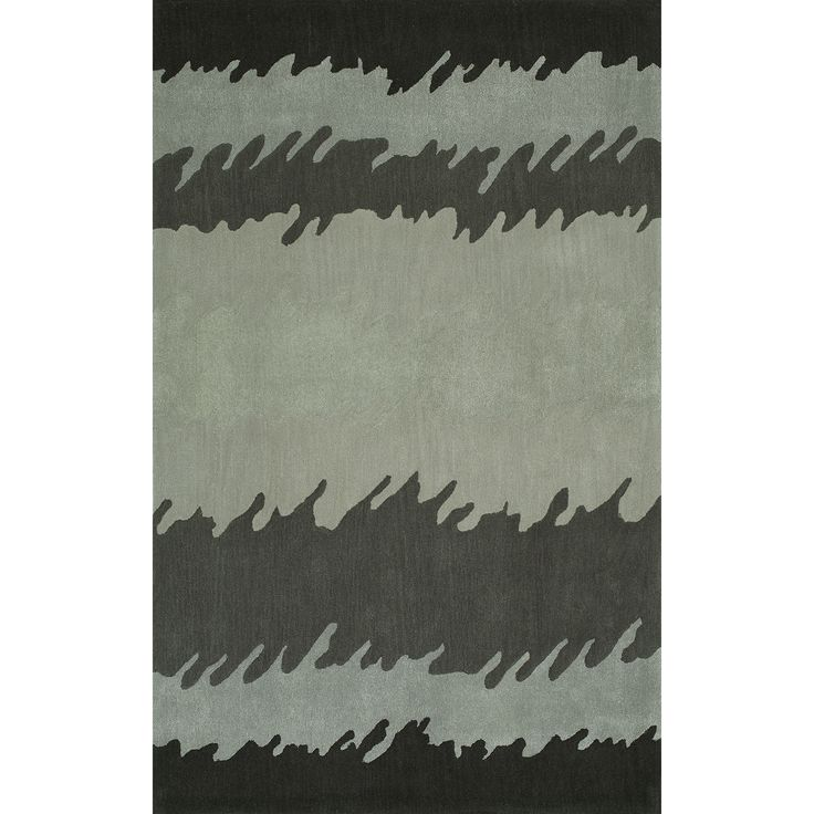 Addison Zenith Bold Stripe Shades of Gray Area Rug (9'X13') (Zenith 11 Gray 9'X13'), Grey, Size 9' x 13'