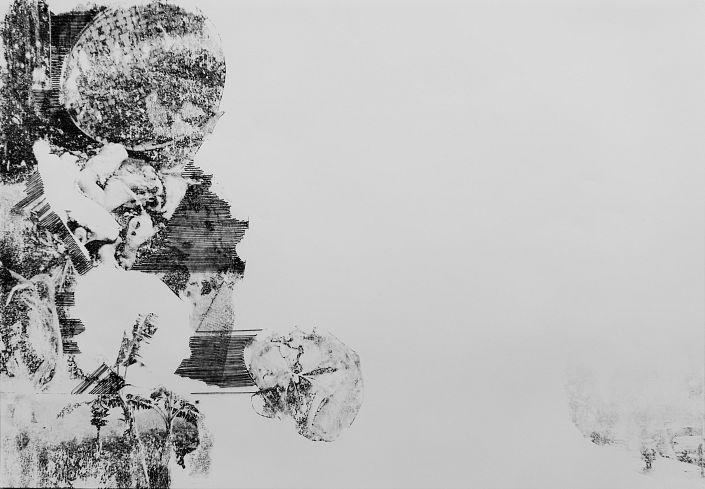 Leonie Bednarek: Sticky Rice 10.  Nitrofrottage und Stickerei auf Papier #Asia #Asien #Thailand #Vietnam #Nitrofrottage #Druckgrafik #Stickerei #Rucksacktour #backpack #Fernreise #Fernweh #leonierbednarek #startyourart www.startyourart.de