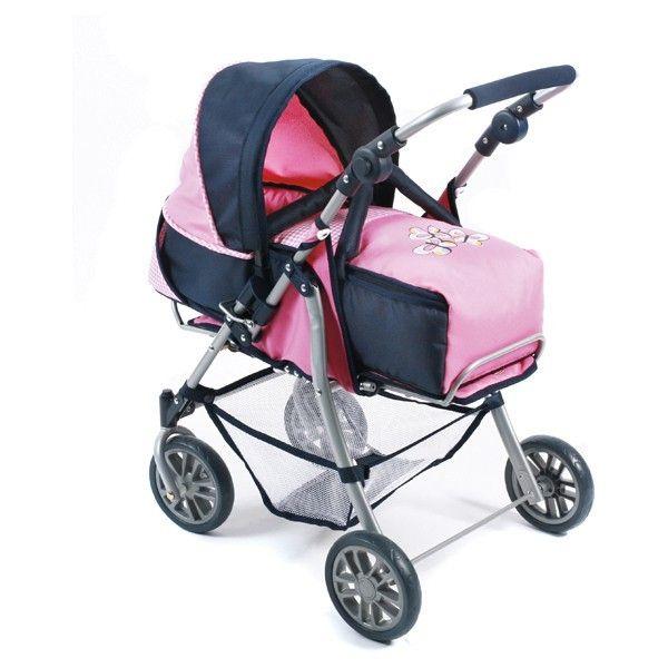 Bayer Chic 2000 Exchange Kombi Puppenwagen pink checker pink - Kollektion 2016