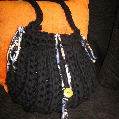 Patrón Tutorial bolso negro de trapillo
