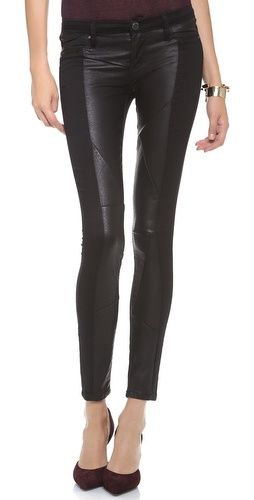 Blank Denim Paneled Skinny Jeans   SHOPBOP