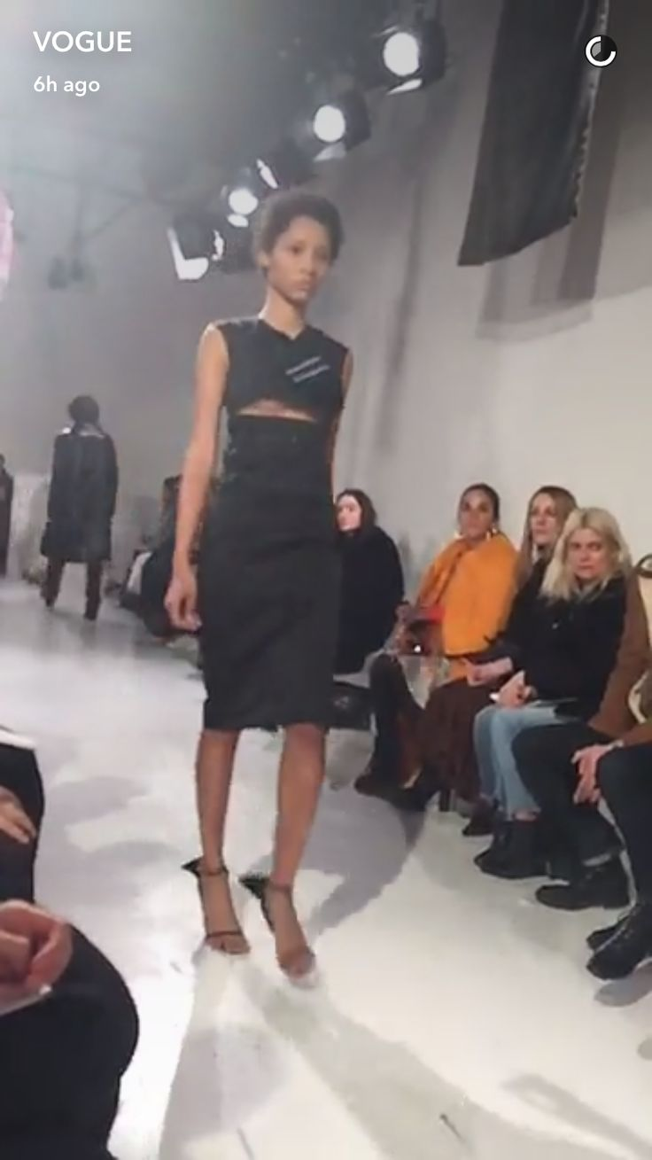 2/10/17 CK Fashion show with Raf Simons in NY | Vogue (host: actress Laura Harrier)