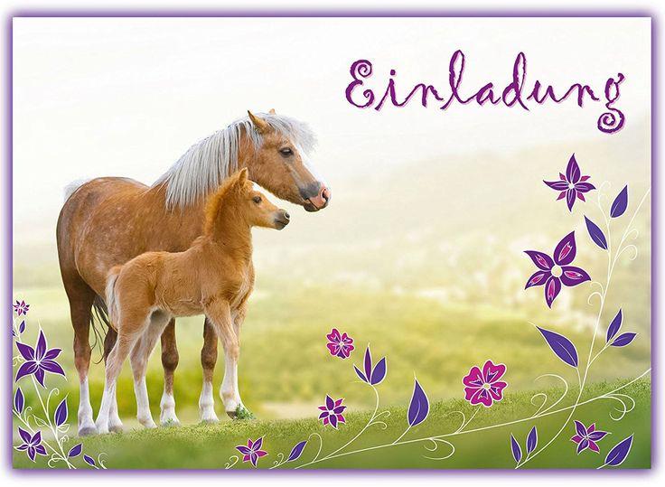 12 Pferde Einladungskarten zum Kindergeburtstag // Geburtstagseinladungen Mädchen Einladungen Geburtstag Kinder Blumen Einhorn Einladungstext Vorlagen Set Karten Set: Amazon.de: Spielzeug