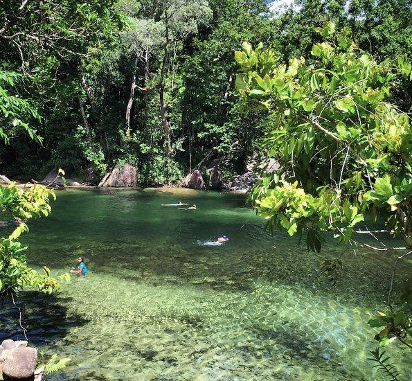 Babinda Boulders swimming hole near Cairns, Queensland, Australia. Photo: AlintaJadex