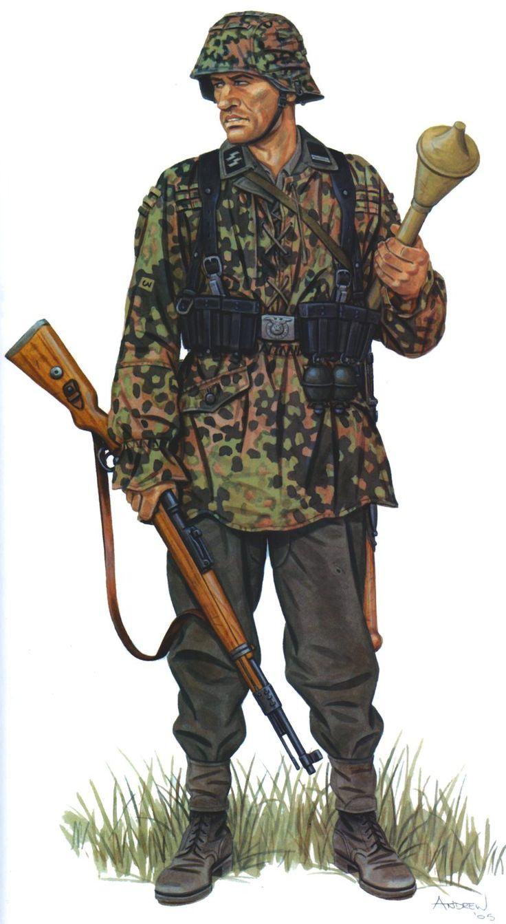 Rottenführer SS , 17th SS Division pantsergrenaderskaya Goetz von Berlichingen , France , June 1944