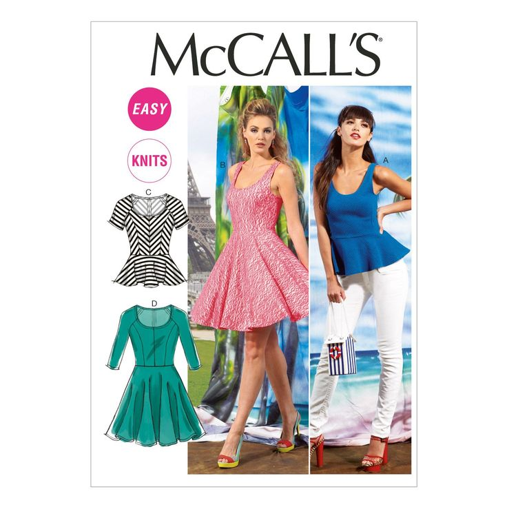 Misses Tops and Dresses McCalls Pattern 6754.