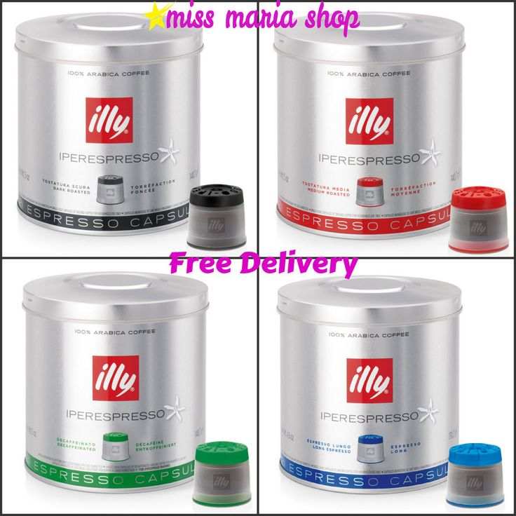 Espresso Pods Coffee Capsules 6 Tins Roasted Lungo Classic illy Iperespresso 126