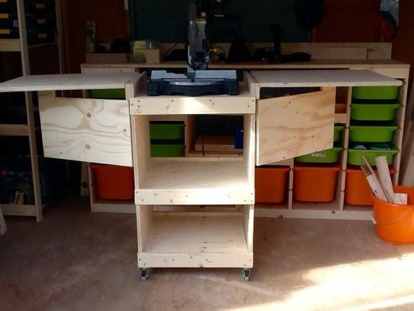 My first project - metric mitre saw stand   Do It Yourself Home Projects from Ana White