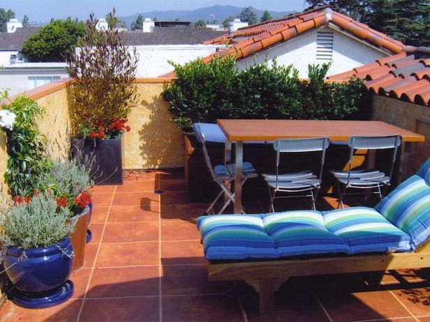 Small Rooftop Patio