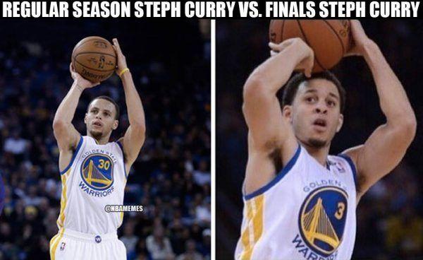 Stephen & Seth Curry meme