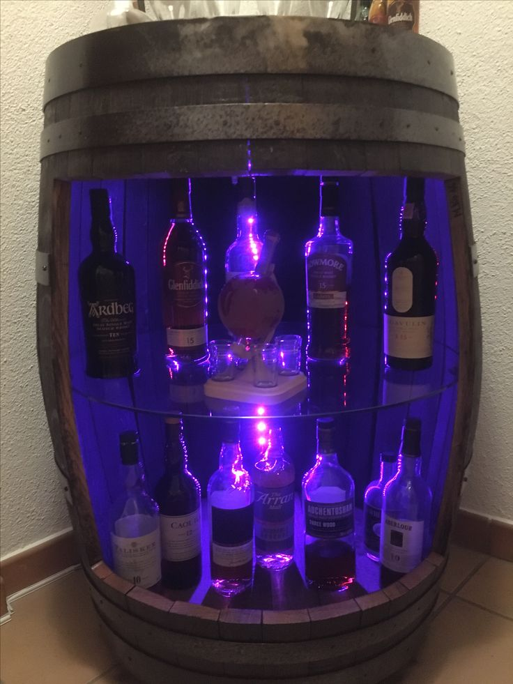 Whisky Bar aus Original Schottischem Whisky Fass