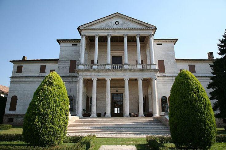 Piombino Dese (Padova), Villa Cornaro, opera del Palladio. Osserviamo il particolare pronao costituito da una doppia loggia con Sovrapposizione di Ordini Ionico e Corinzio.  Dottrina dell'Architettura