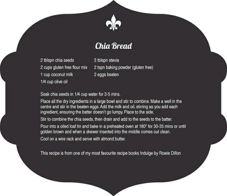 Chia Bread Recipe - Fleurtations with Food