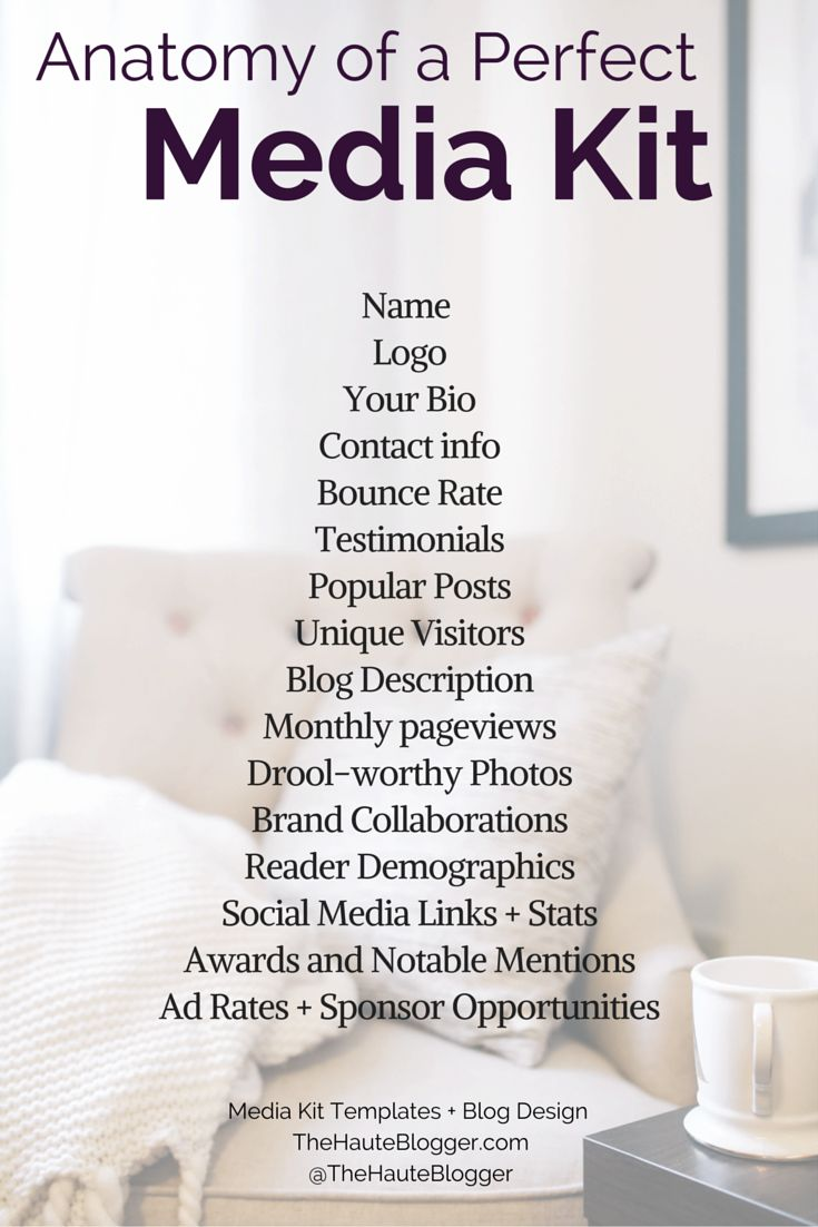 Here's what you need to create a media kit that lands revenue, sponsorships, guest posts and more! For templates, tips and more, come on over to thehauteblogger.com.