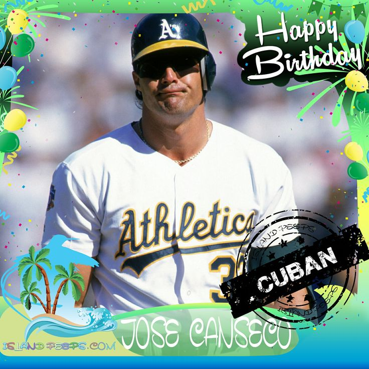 Happy Birthday Jose Canseco!!! Cuban born former baseball star!!! Today we celebrate you!!! @33josecanseco #josecanseco #islandpeeps #islandpeepsbirthdays #baseball #mlb #cuba