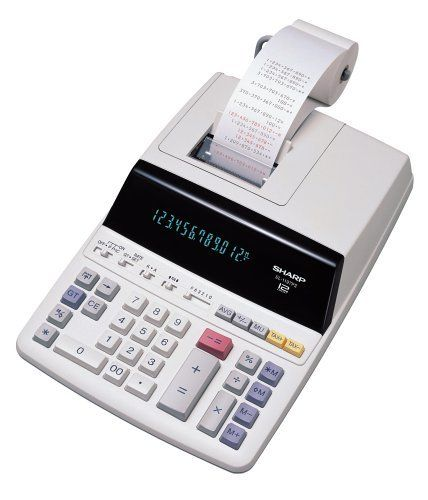 Sharp EL-1197PIII Heavy Duty Color Printing Calculator with Clock and Calendar by Sharp. $44.78. Amazon.com                The Sharp EL-1197P drum printing calculator is an indispensable tool forheavy offices uses. The EL-1197P has a large 10-digit blue fluorescent display and prints characters in black at 3 lines per second on standard paper rolls.The EL-1197P has four-key memory (memory plus, memory minus, andrecall/clear) and special functions keys including grand t...