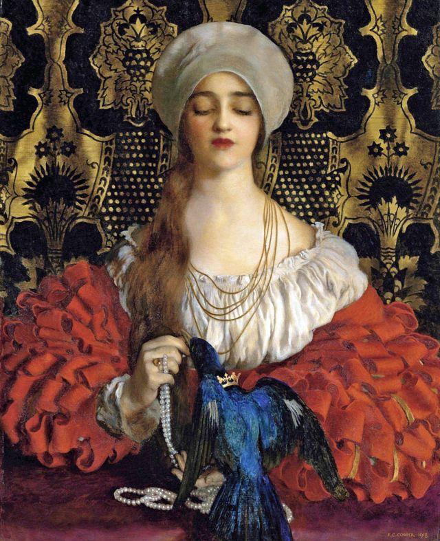 The Blue Bird by Frank Cadogan Cowper from homonym fairytale (L'Oiseau bleu) by Madame d'Aulnoy