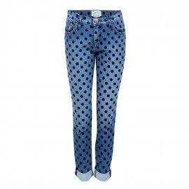 The fling Jean flocked dots Jeans met stippen Current/Elliot € 365