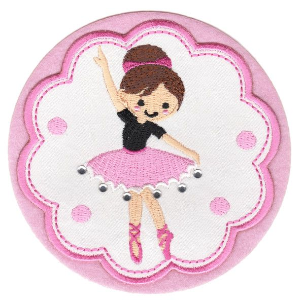 "Ballerina 1 Iron-On Applique Patch - Size: 4"" x 4"" (10 x 10 cm) - $5.49"