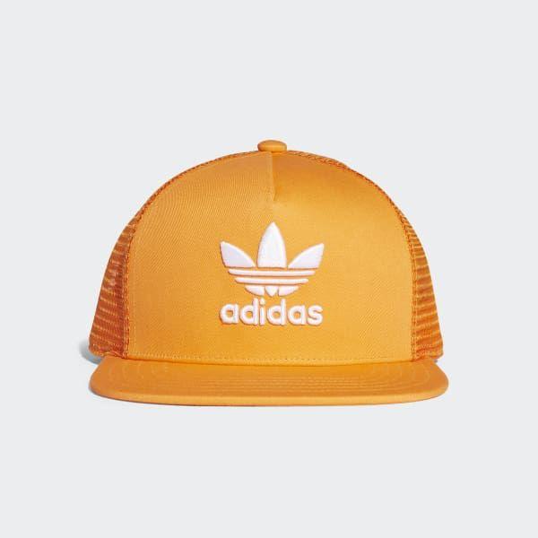 Buy Adidas Originals Orange Trefoil Trucker Cap for Men