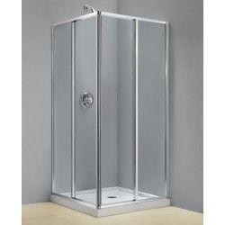 "DreamLine CORNERVIEW 34 1/2 x 34 1/2 x 72 Shower Enclosure. 5/32"" Tempered Clear Glass. Corner-opening sliding tempered glass doors with full length magnetic door latch. http://www.emoderndecor.com/dreamline-cornerview-34-1-2-x-34-1-2-x-72-shower-enclosure.html#.UhX9uX1_V0w"