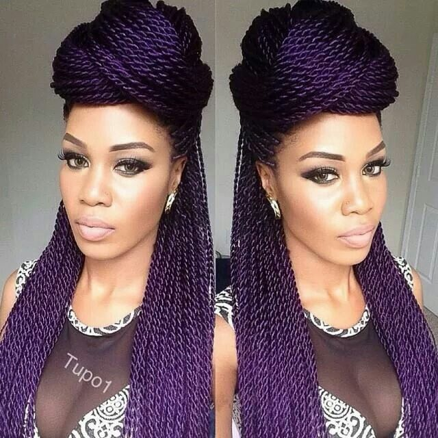 Purple rope twist... i think I might try ombre purple with my braids