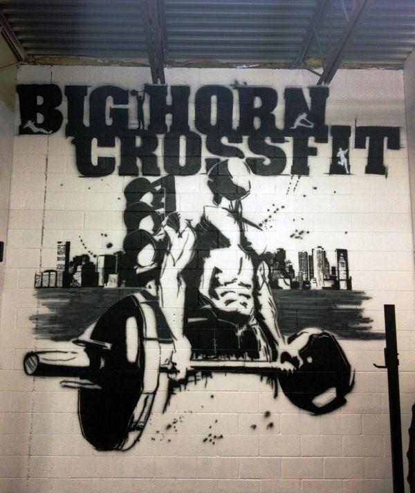 Bighorn Crossfit Mural 2013