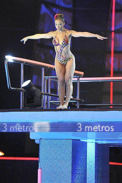 Beatriz Trapote en el estreno de '¡Mira quien salta!'