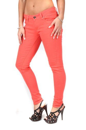 Voted Best Skinny Jeans - Women's Skinny Jeans Colored Denim Pants- All Sizes ** To view further, visit http://www.passion-4fashion.com/clothing/voted-best-skinny-jeans-womens-skinny-jeans-colored-denim-pants-all-sizes/?rw=090716224633
