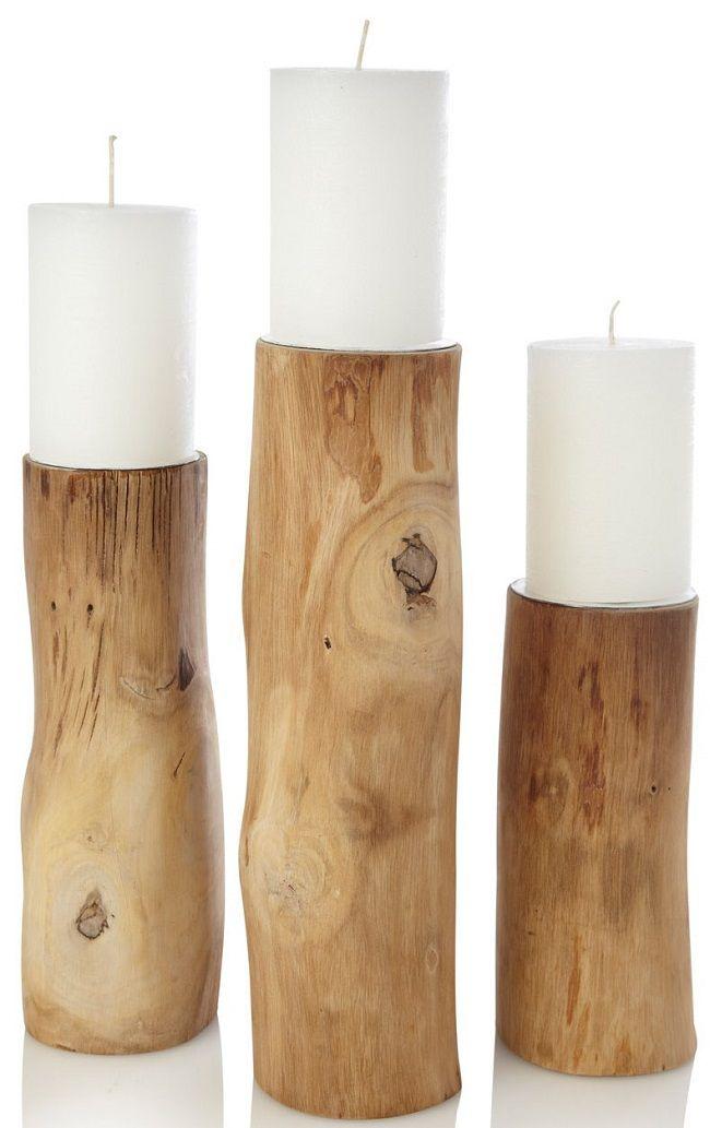 Soporte para cirios. #velas #madera