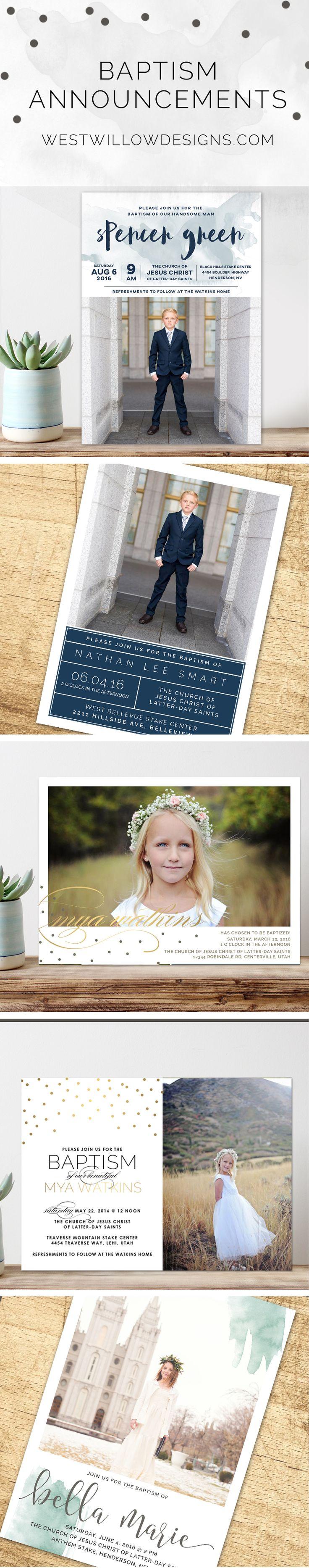Custom printable baptism invitations