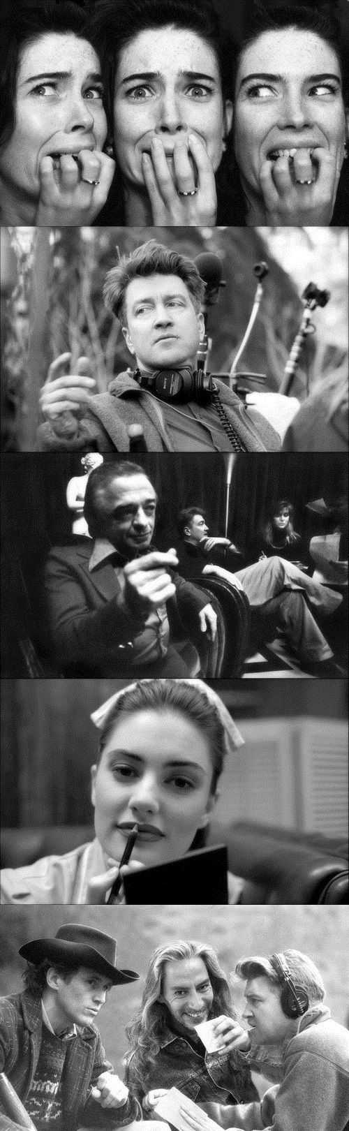 """""""Behind the scenes photos of Twin Peaks by Richard Beymer""""  these are treasure!"""