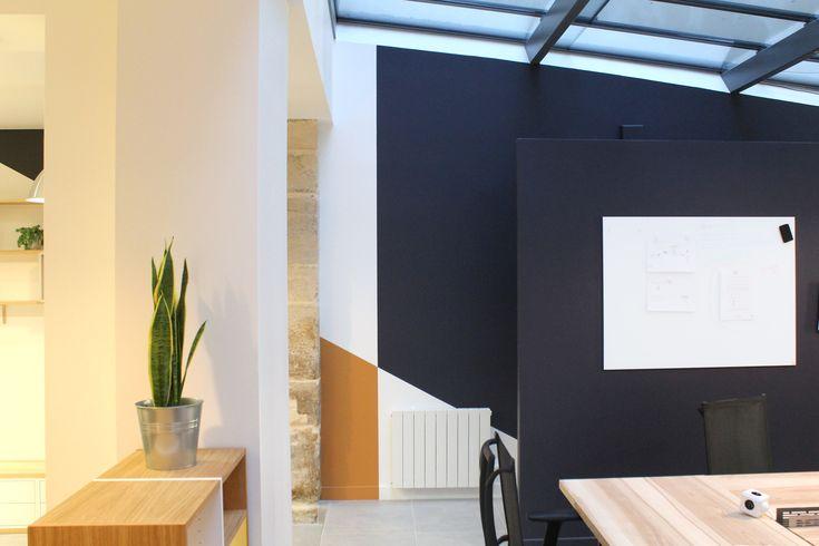le.nid AI - projet 75_11è - aménagement d'un espace de travail en coworking -  espace bureaux n° 1 sous verrière