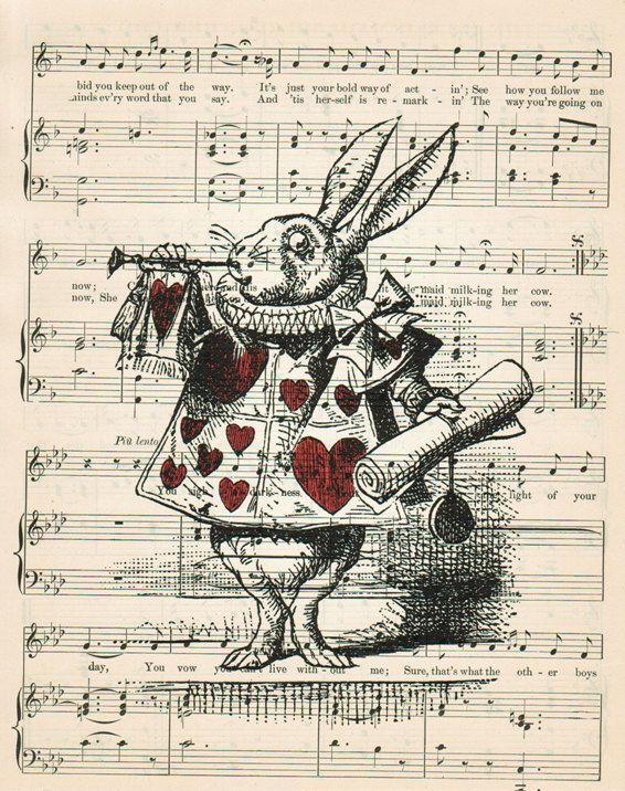 ALICE In WONDERLAND Home Decor Wall Decor Vintage by EncorePrints, $10.00