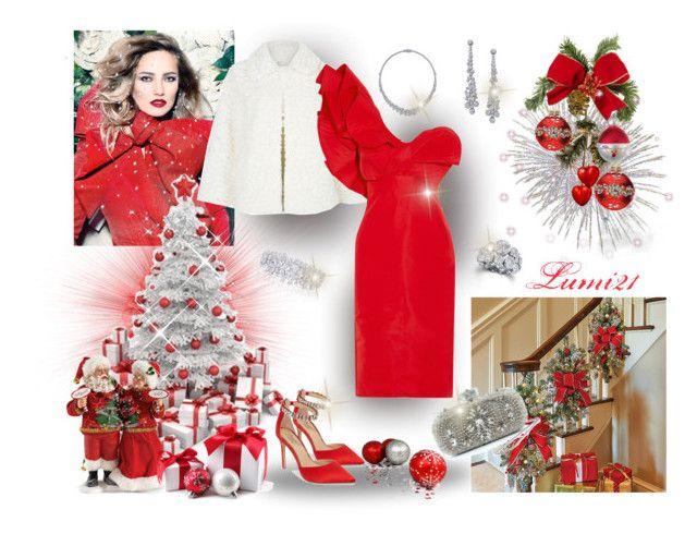 CHRISTMAS EVE by lumi-21 on Polyvore featuring polyvore fashion style Johanna Ortiz Mela Loves London Badgley Mischka Marchesa Improvements Mark Roberts Alessi Graff clothing