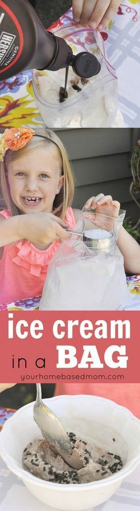 Ice Cream in a Bag Recipe and Tutorial - Making their ownice cream in a bagis a perfect summer activity for the kids. It's easy, fun and delicious!