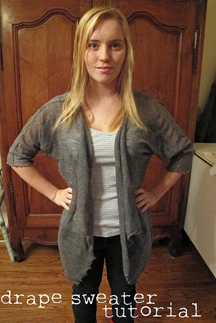 Drape front cardigan tutorialFront Sweaters, Sewing Country, Sewing Projects, Sweaters Tutorials, Sewing Crafts, Fashion Sewing, Drapes Front, Diy Clothing, Sewing Ideas